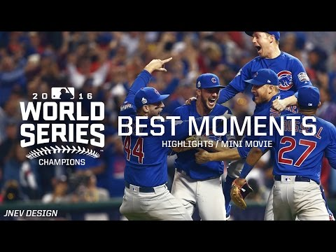 MLB Chicago Cubs 2016 World Series vs Indians Movie Best Moments Highlights - Playoffs