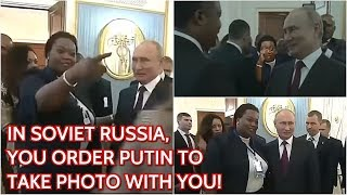"""Putin """"Colluding"""" With Congolese! When You See Russian President Make Sure You Take Photo With Him!"""