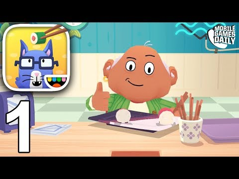 TOCA KITCHEN SUSHI - Gameplay Part 1 (iOS Android) - Games For Kids