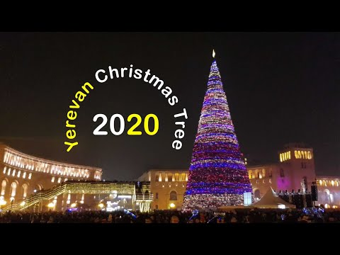 Yerevan Christmas Tree 2020, Ереван Новогодняя Елка 2020