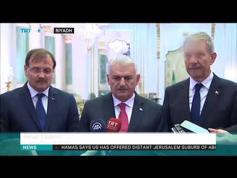 Turkey's prime minister meets Saudi Arabia's king, crown prince