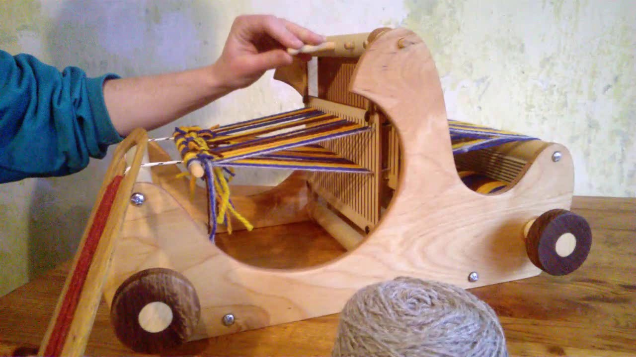 Small Table Weaving Loom By Harvestlooms Youtube