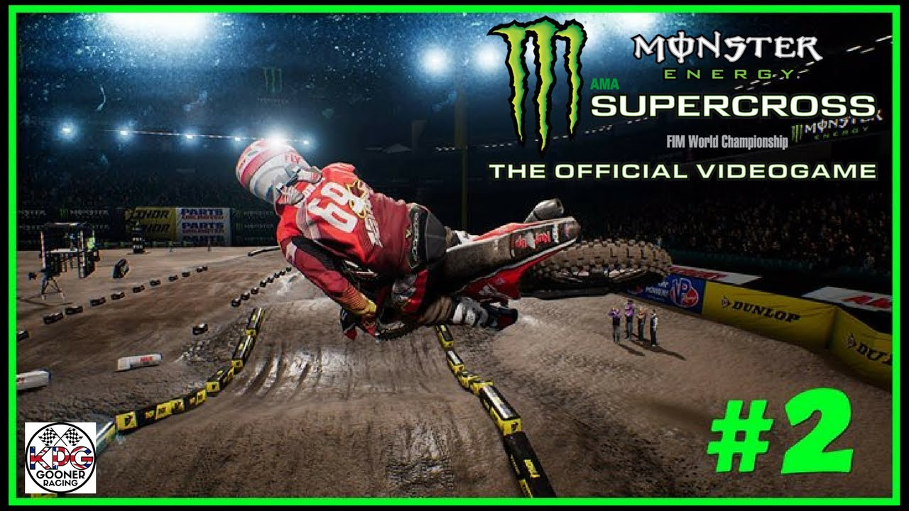 monster energy supercross career mode part 2 levelling up. Black Bedroom Furniture Sets. Home Design Ideas