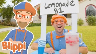Blippi Makes A Lemonade Stand! | Learn With Blippi For Kids | Educational Videos For Toddlers