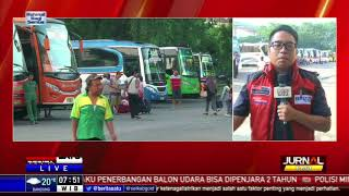 Arus Balik di Terminal Kampung Rambutan Sudah Mulai Terlihat