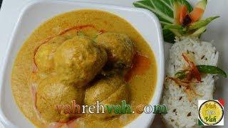 Chicken Koftas Korma - By VahChef @ VahRehVah.com