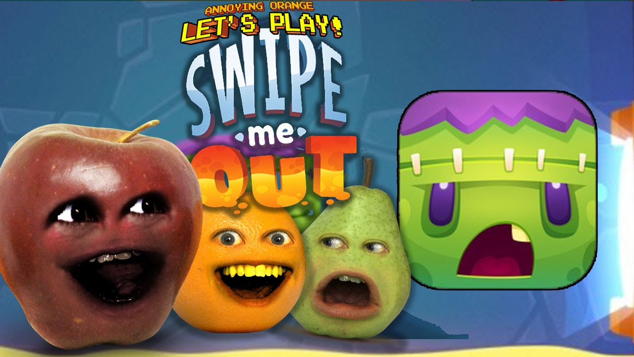 midget apple plays swipe me out w annoying orange and