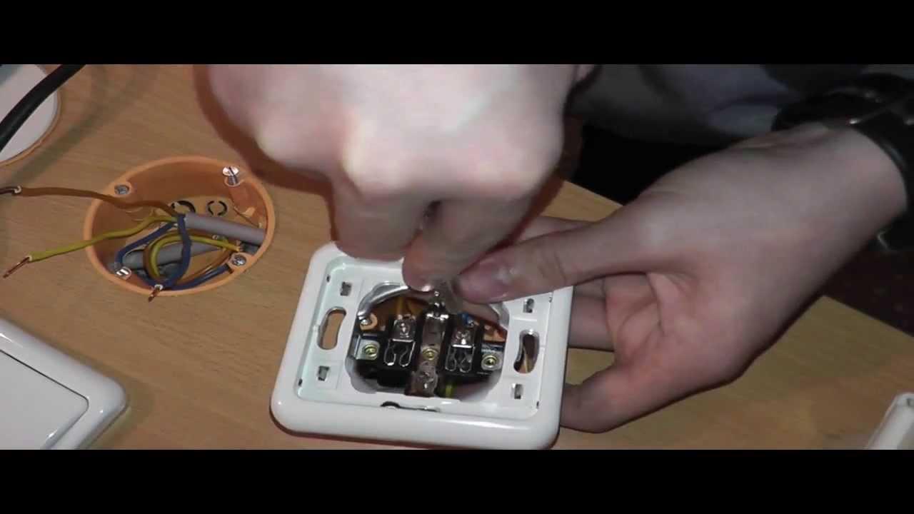 Elektroinstallation Teil 3 Eine zweite Steckdose Anschließen - YouTube