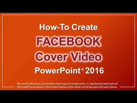 How to Create Facebook Cover Video in PowerPoint 2016 - YouTube