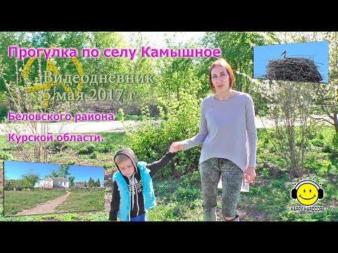 Прогулка по селу Камышное Беловского района Курской области. Музыка Happy Hardcore.