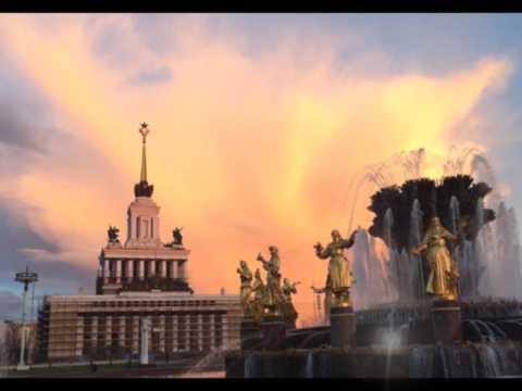 On fire! Stunning red and gold cloud formations over Moscow flood