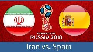 (LIVE NOW) Spain Vs Iran LIVE STREAM WORLD CUP GLOBO AO VIVO 2018