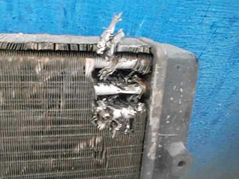 ремонт радиатора в дороге