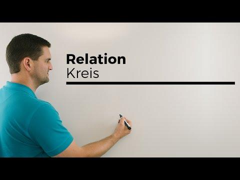 Relation mit Mengen