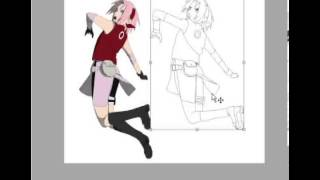 Drawing Sakura Haruno paint MS paint