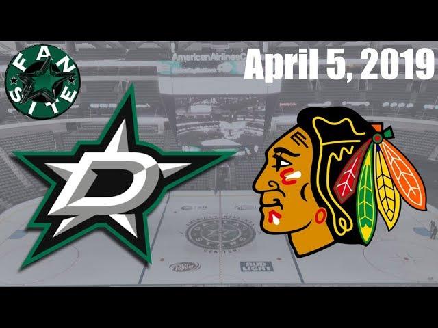 Dallas Stars @ Chicago Blackhawks | April 5 2019