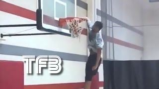 Cassius Stanley, The Highest Jumping 8th Grader in THE WORLD! (Elbow Dunk)