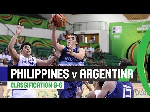 Philippines v Argentina - Classification 9-16 Full Game - 2014 FIBA U17 World Championship