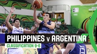 Philippines v Argentina - Classification 9-16 Full Game - 2014 FIBA U17 World Championship