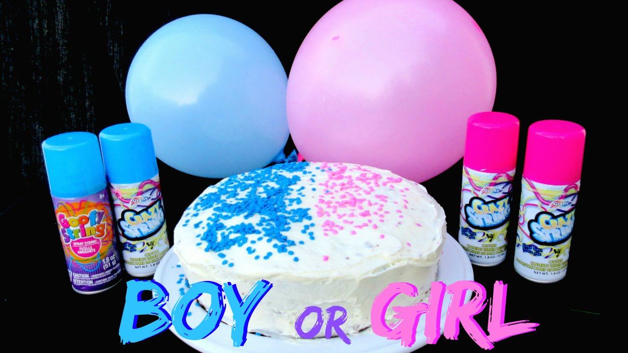 baby gender reveal with