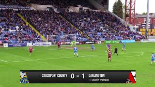 Stockport County 1-1 Darlington - Vanarama National League North - 2017/18