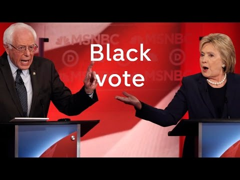 US election: Hillary Clinton and Bernie Sanders compete for the black vote