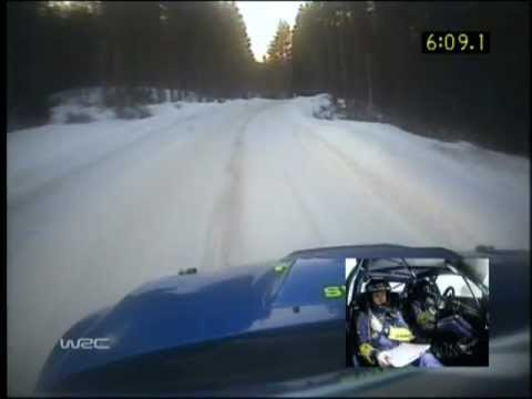 Solberg/Mills, Subaru Impreza WRC, Swedish Rally 2006, SS7 - Hara 1