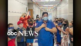 Beloved cafeteria worker becomes US citizen