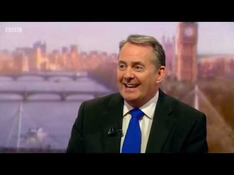 International Trade Secretary Liam Fox's interview on The Andrew Marr Show