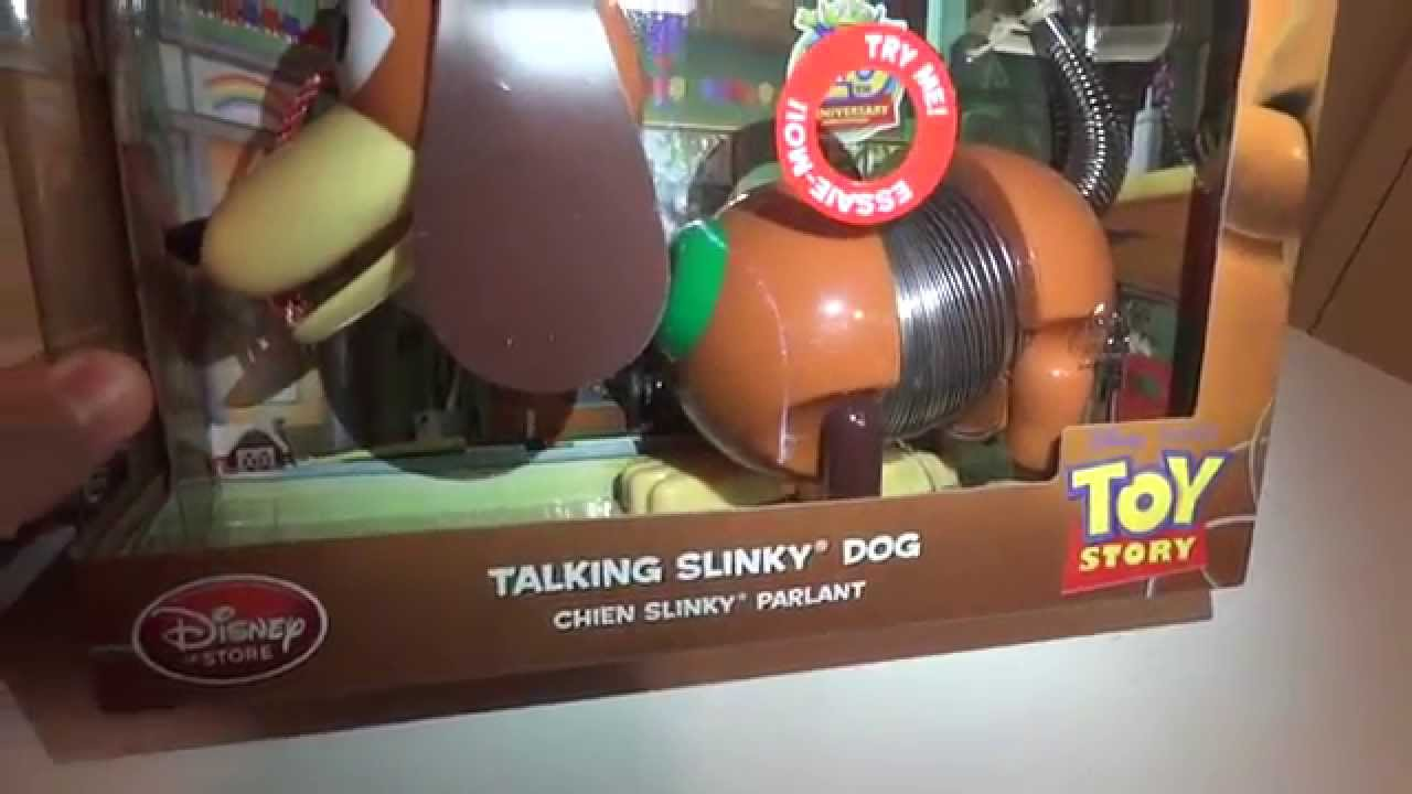 slinky dog disney store cachorro fala toy story youtube
