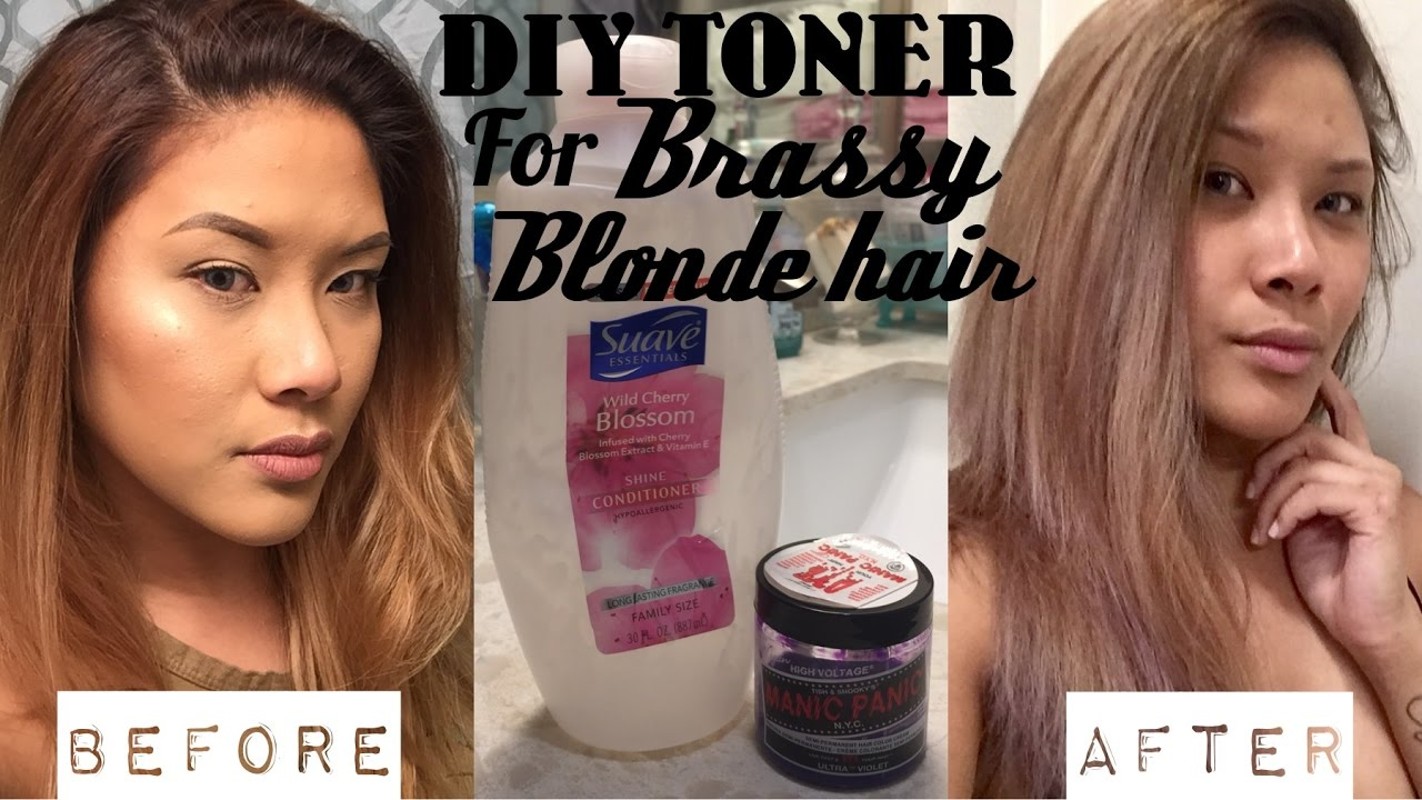 Diy Hair Toner For Brassy Blonde Hair Demo Shereezyxo