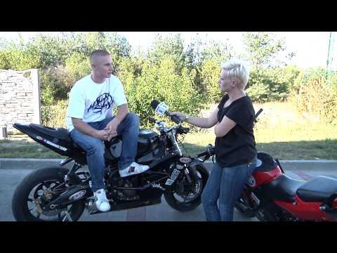 Stunt motocyklowy tv Kanał S Lubartów 2013