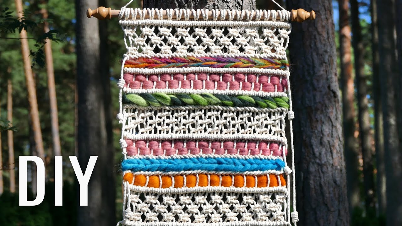 Soft Macram 233 Tapestry Woven Wall Hanging Tutorial Youtube