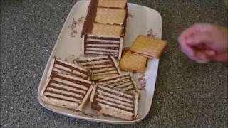 ohne backen  Kalte Schnauze nach Omas Rezept als Kuchen im Kasten und als Keks to go