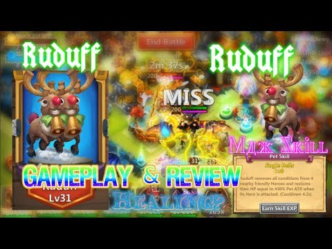 Ruduff Max Skill Level Gameplay & Review - Castle Clash