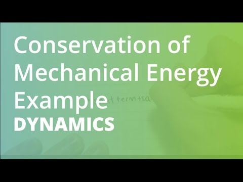 Conservation of Mechanical Energy Example | Dynamics - YouTube
