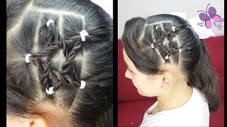 Braided Star | Hairstyles for Medium and Long Hair | Hairstyles for School | Hairstyles for Girls