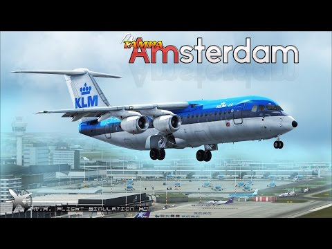 FSX [HD] - KLM | BAe 146 | Approach to Amsterdam