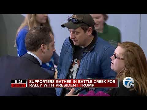 President Trump, Vice President Mike Pence In Battle Creek For Rally