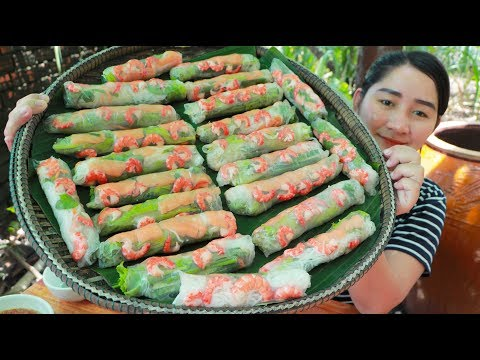 Tasty Salmon Spring Roll Shrimp – Cooking With Sros