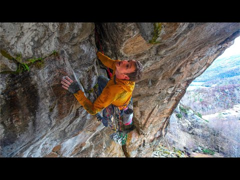 The Green Room - First Ascent of a Horizontal 5.13 Squeeze
