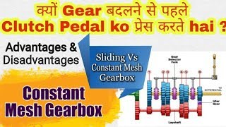 33) Constant Mesh Gearbox ~ Hindi    Clutch Working    Manual Transmission