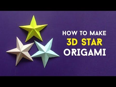 CARA MEMBUAT ORIGAMI BINTANG 3 DIMENSI - HOW TO MAKE 3D STAR ORIGAMI