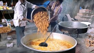 Double ka Meetha Hyderabad party Special For 500 people || Indian Street Food || KIKTV Network