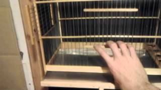 "Finch Wood Breeder Bird-cage 18""l X 14""h X 10""1/2d"