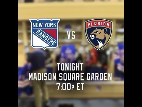 NHL 19 PS4. REGULAR SEASON 2018-2019: Florida PANTHERS VS New York RANGERS. 11.17.2018. (NBCSN) !