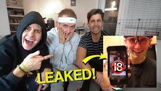 LEAKING MY SECRET PICS! ft. David Dobrik & Josh Peck