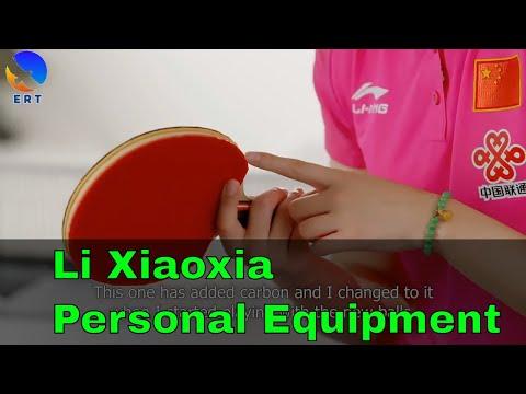 Li Xiaoxia Personal Equipment (Stiga Blade DHS Hurricane 3)