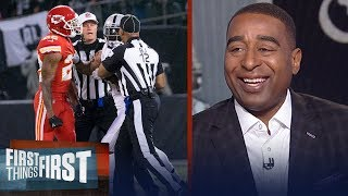 Marshawn Lynch ejected against K.C. for bumping official - Cris and Nick react | FIRST THINGS FIRST