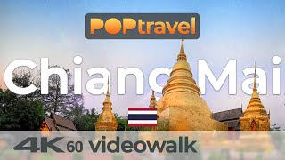 Walking in CHIANG MAI / Thailand - 4K 60fps (UHD)